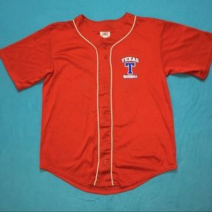 """7021ce40129 Baseball Style Jersey Red  """"TEXAS Double Zero"""" LG.  18  0. Size  L · Teamwork  Athletic Apparel"""